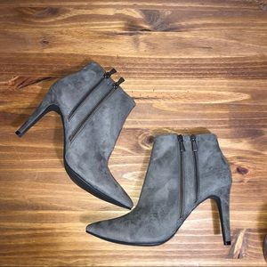Gray Suede Booties Size 11
